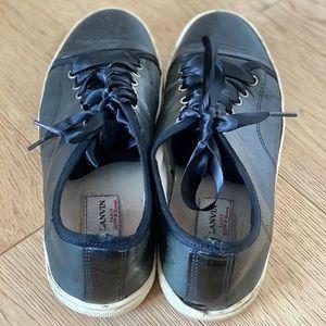 Lanvin Black Toe Capped Sneakers